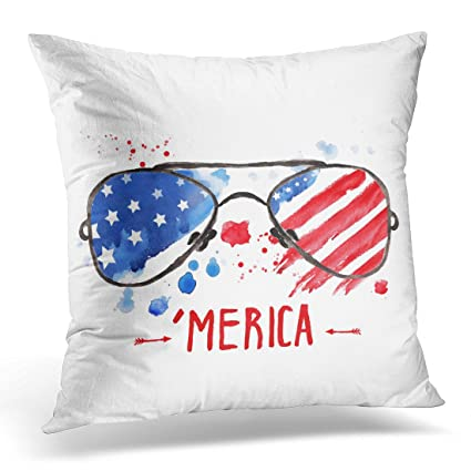 Amazon UPOOS Throw Pillow Cover Hipster Glasses With Stars And Cool Hipster Decorative Pillows