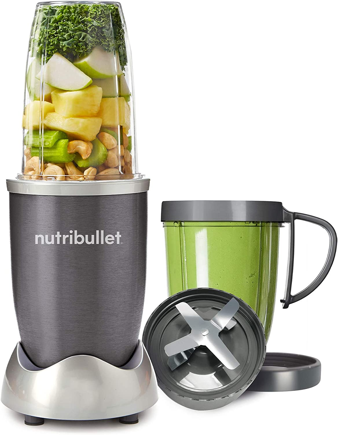 Blender /& Mixer System 8-Piece Set NutriBullet 600 Superfood Nutrition Extractor