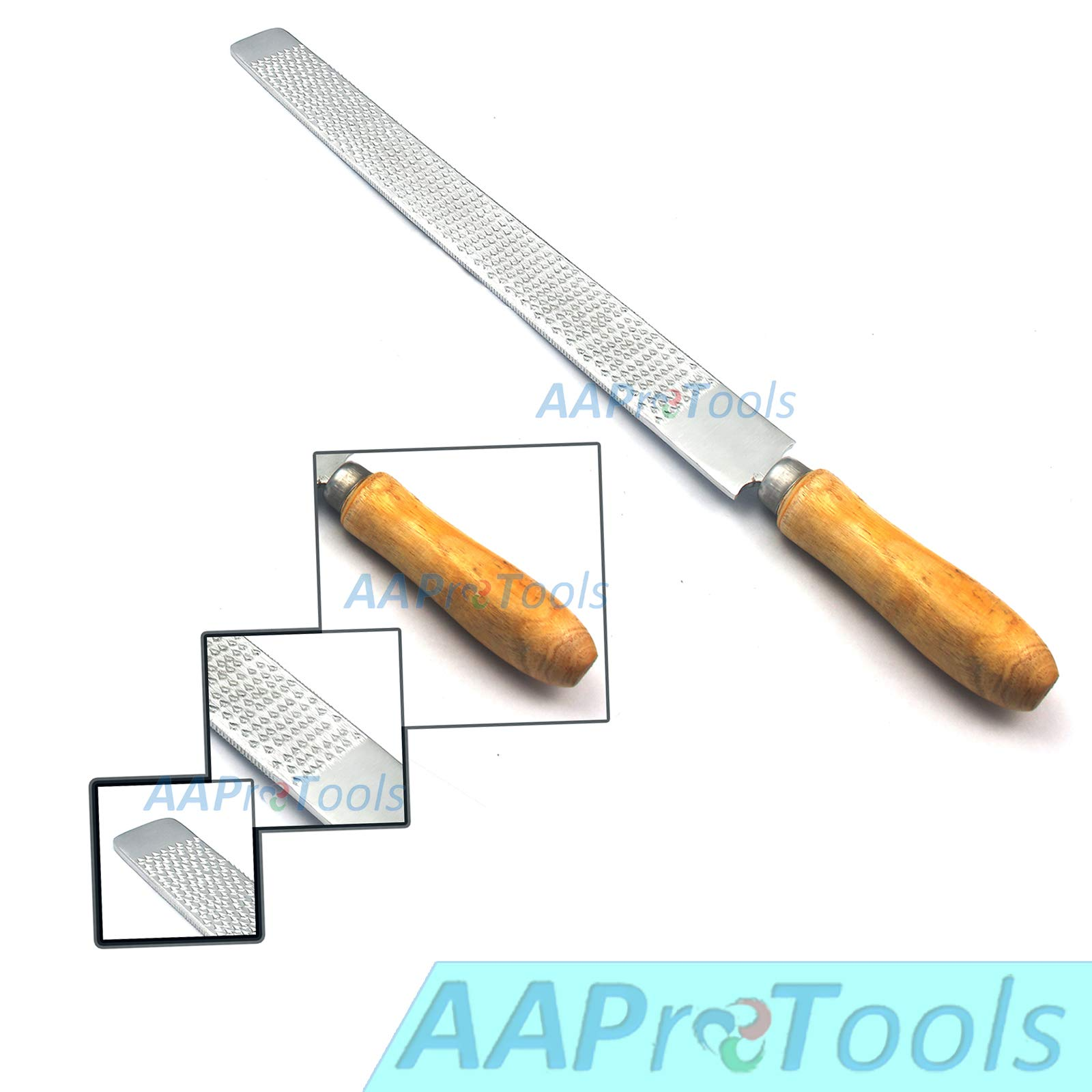 AAProTools Horse Hoof Rasp & File 14'' Tanged with Polished Wooden Handle