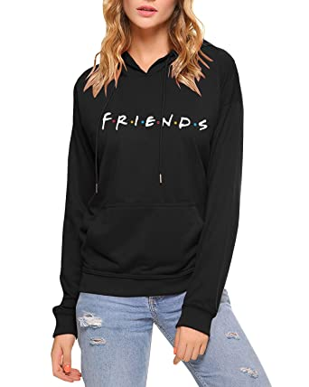 91dbe4523 Qrupoad Teen Girls Friends TV Show Oversized Crewneck Fleece Pullover  Sweatshirt Tops at Amazon Women's Clothing store: