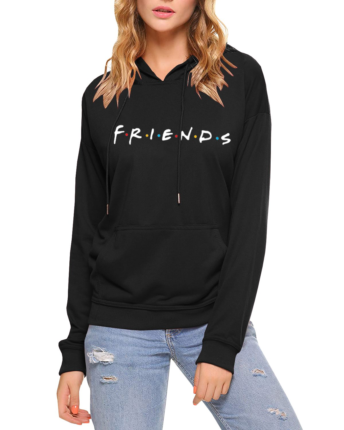 AEURPLT Womens Teen Girls Friends TV Show Hoodies Fall Winter Hooded Sweatshirts Fleece Pullover Tops