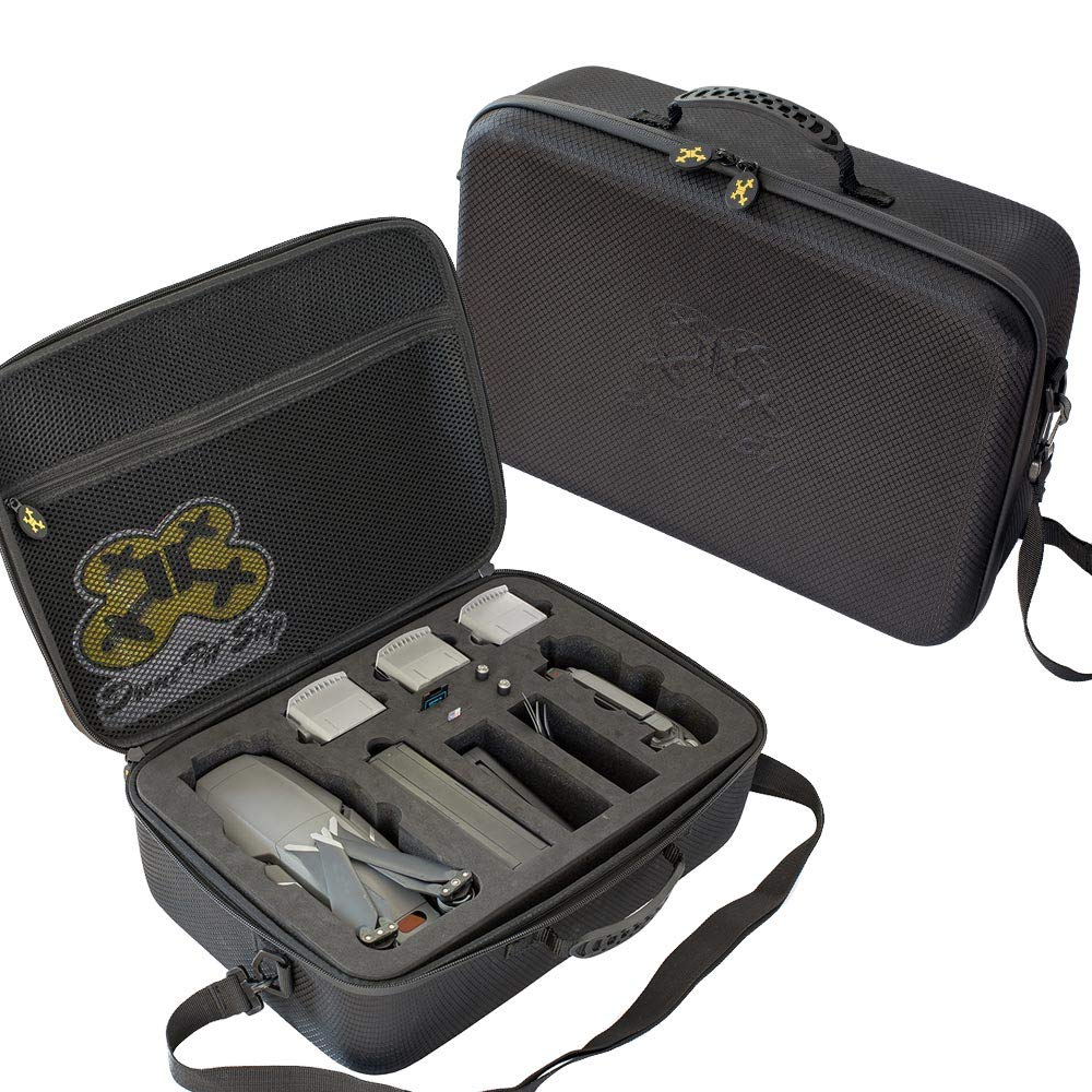 Carrying Case for DJI Mavic 2 Pro Zoom Splash Proof | Durable | Compact | Semi Hard EVA Material Carry Your Drone with Maximum Protection by Drone Pit Stop