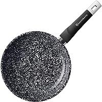 WaxonWare 8 Inch Granite Ceramic Nonstick Frying Pan & Nonstick Skillet, Anti-Warp Non Toxic PTFE APEO PFOA Free…