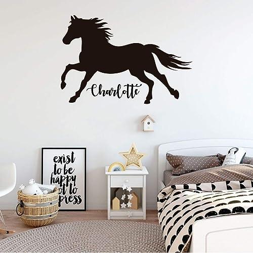 Details about  /Cowboy Ride Horse Cute Animal Home Kids Room Wall Sticker Vinyl Art Decals Decor