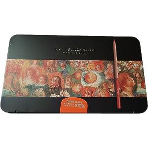 Amazon.com: Marco ade 72-color Raffine Fine Art Colored Pencils ...