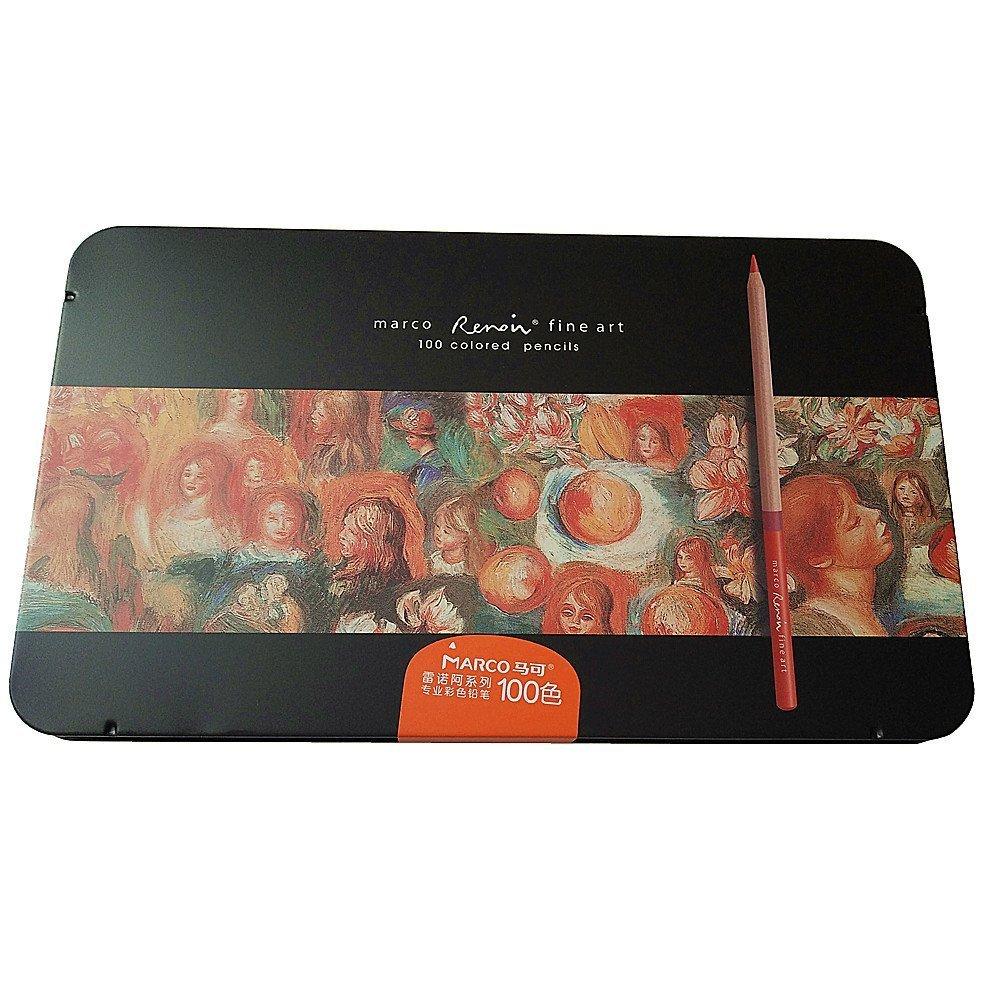 Amazon.com: Egoshop 100 Color Marco Renior Oil Base Colored Pencils ...