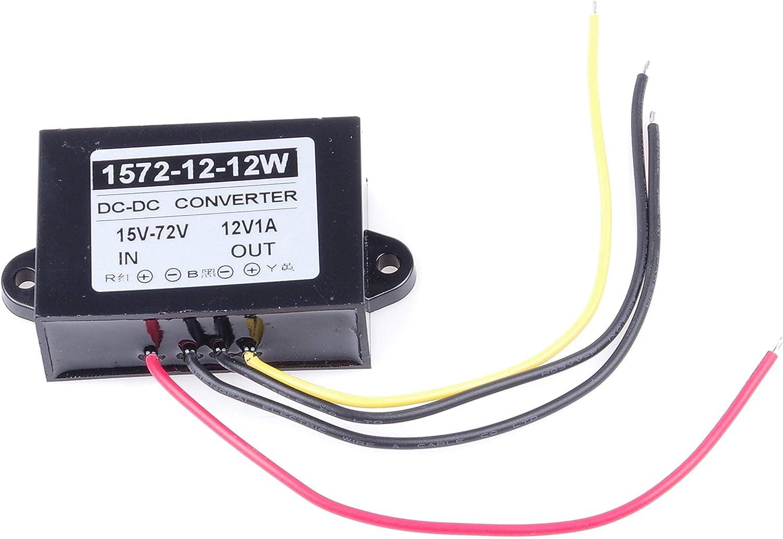 15-80V to 12V 1A 12W Converter Regulator Waterproof Buck Power Supply Module KNACRO DC-DC Buck Module DC 24V 36V 48V 60V 72V
