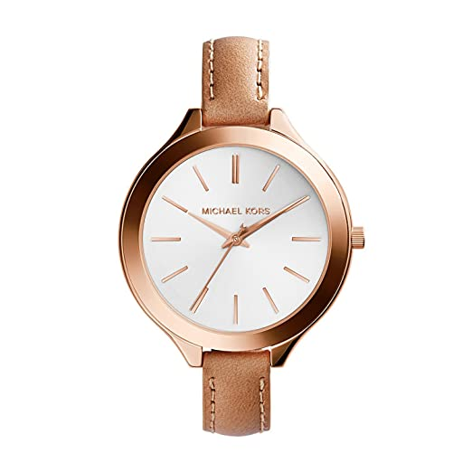 michael watch parker watches dial ladies kors blush