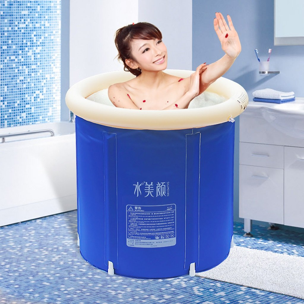 Practical portable child adult inflatable bathtub Inflatable Bathtub Fold Adult Bath Tub Thickened Plastic(65*70cm , 70*70cm , 75*75cm) QLM-Inflatable Bathtub and Inflatable plunge bath ( Size : 65*70cm )