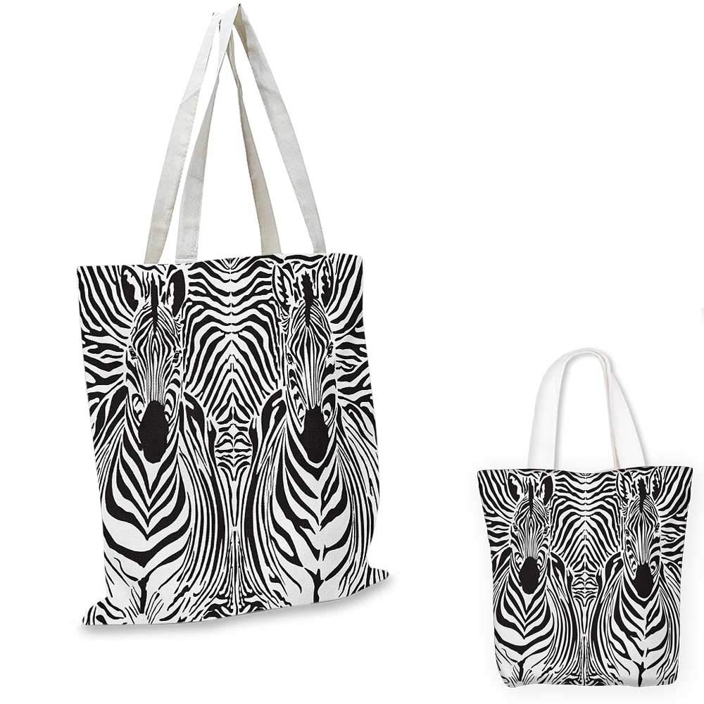 Zambia canvas messenger bag Wild Tropical Animal Camouflage Skin Pattern Bohemian Folk Design canvas beach bag Pale Caramel Dark Brown 14x16-11