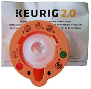 Keurig 4335457458 B01MXFTW88 2.0 Needle Cleaning Tool, kkk Orange