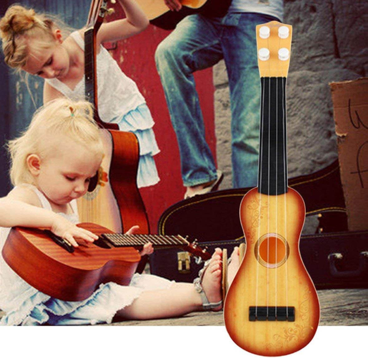 14.5 inch Ukulele Beginner Hawaii 4 String Nylon Strings Guitar Musical Ukelele for Children Kids Girls Christmas Gifts