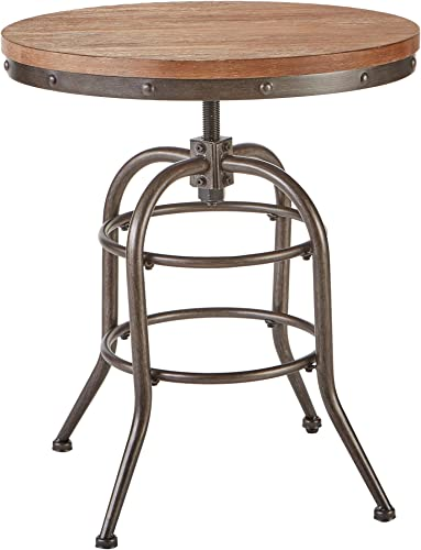 Signature Design by Ashley – Vennilux End Table – Vintage Casual – Round – Grayish Brown