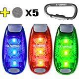 STURME LED Safety Light Strobe lights for Daytime Running Walking Bicycle Bike Kids Child Woman Dog Pet Runner Best Flashing Warning Clip on Small Reflective Set Flash Walk Night High Visibility