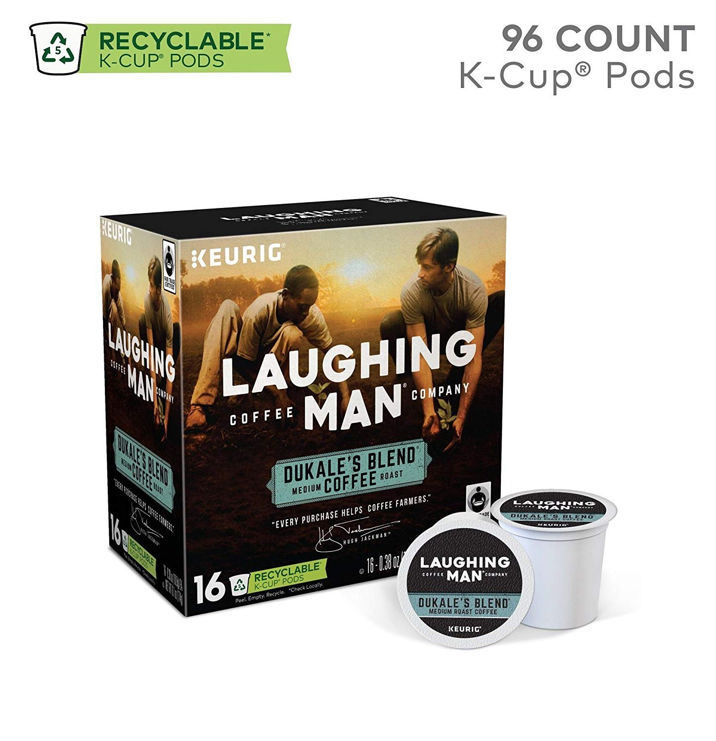 Laughing Man Dukale's Blend Coffee Keurig K-Cups, 96 Count by Laughing Man (Image #2)