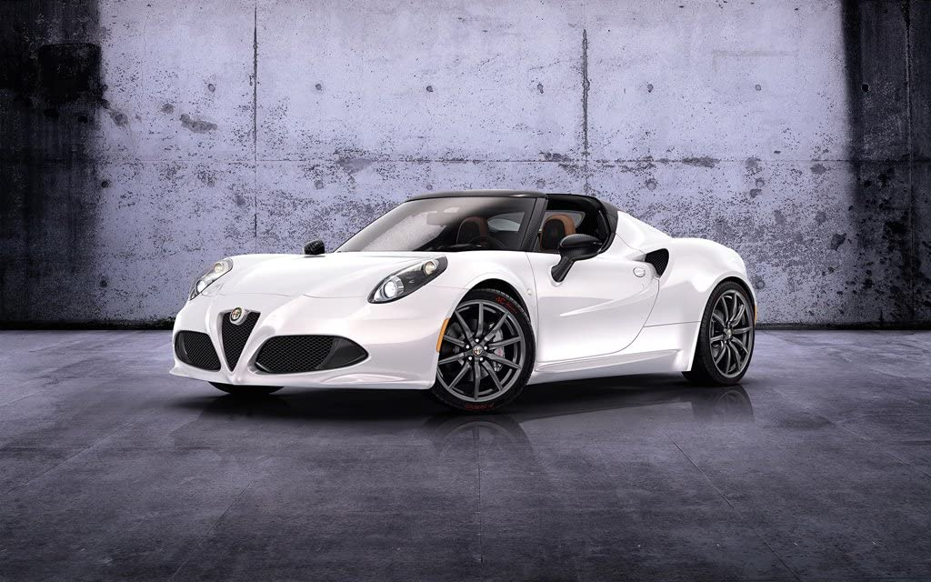 2014 Alfa Romeo 4C Spider Prototype 2 11X17 Photo Poster