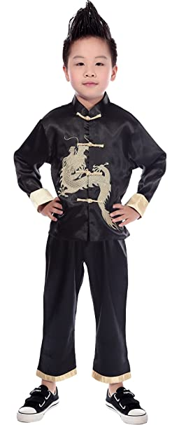 Image result for Boys Black Chinese outfit