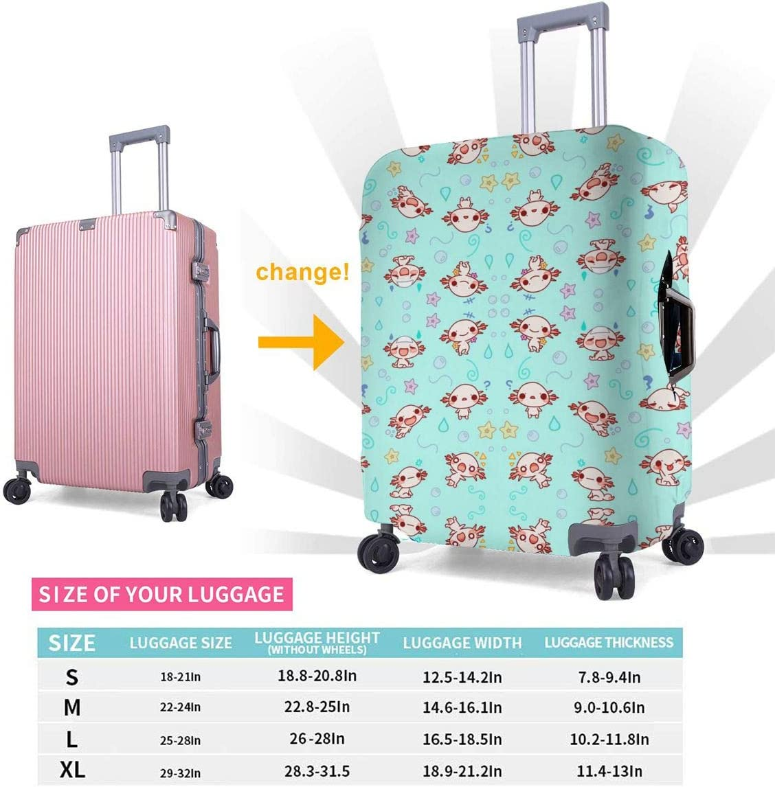 Cute Animal Printed Business Luggage Protector Travel Baggage Suitcase Cover 4 Size