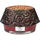 Glowing Leaf Shade For Woodwick Hearthwick Oval Ellipse Jar Candle