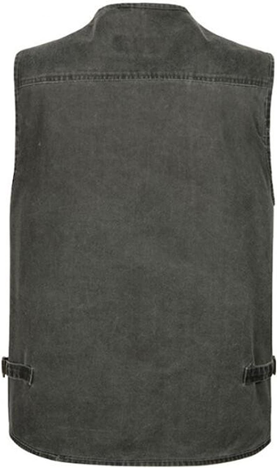 JJZXX Mens Multi-Pocket Reporters Photography Vest Concealed Carry Waistcoat Sleeveless Jacket Casual Gilet