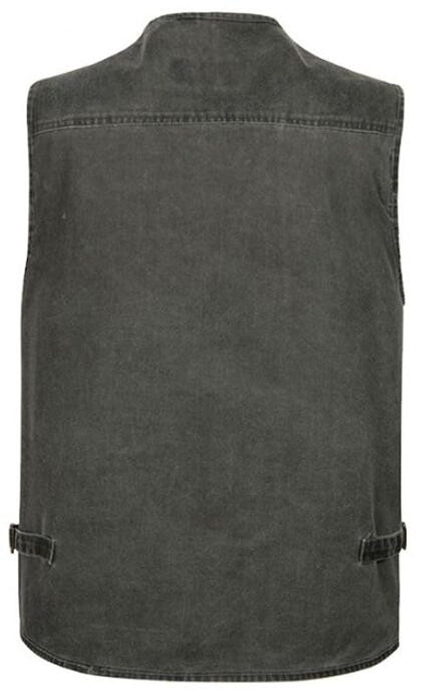 moxishop Herren Multi-Pocket Reporter Fotografie Weste verdeckt tragen Waistcoat /ärmellose Jacke Casual Vest Gilet