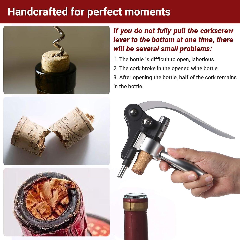 Heerda Sacacorchos el/éctrico corcho de pl/ástico abrebotellas autom/ático botellas de gran formato. ideal para botellas de goma