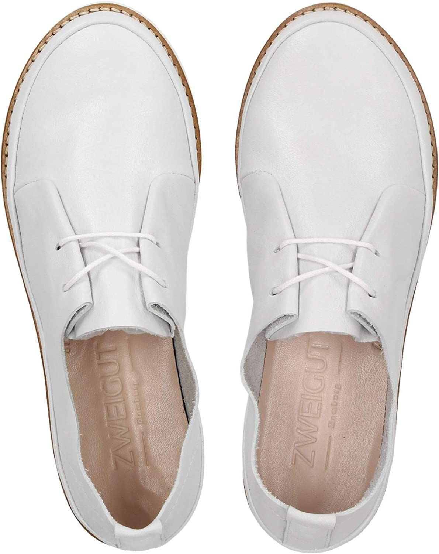 Zweigut® -Hamburg- komood #305 Damen Sommer Schuh federleicht Komfort Leder Handmade in Portugal Weiß yZILz