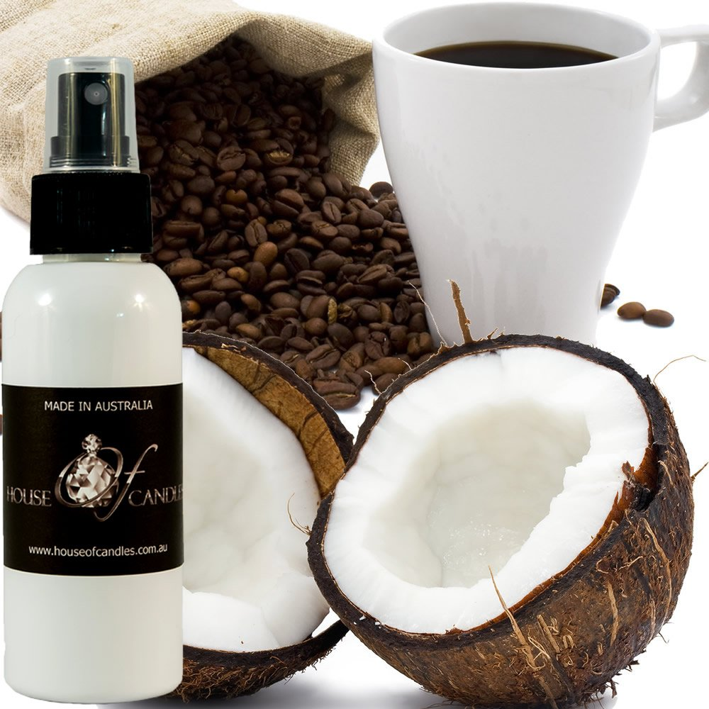 Coffee & Coconut Air Conditioner Air Freshener & Deodoriser Spray XSTRONG 50ml/1.7oz Vegan & Cruelty Free House Of Candles
