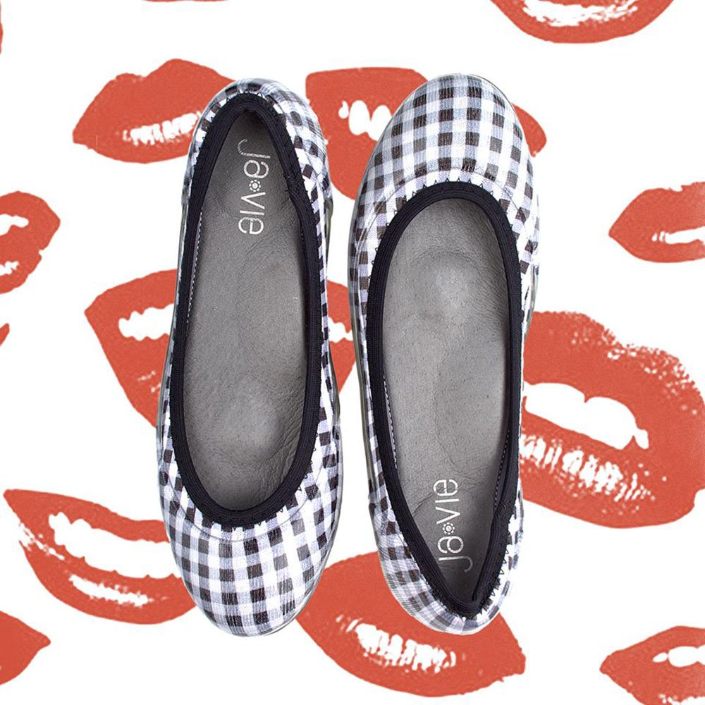 JA VIE Ballet Shoes and Comfortable Ballet Flats Style B079QW27MN for Every Day Wear B079QW27MN Style 37 M EU|Gingham/ Black 51d01e