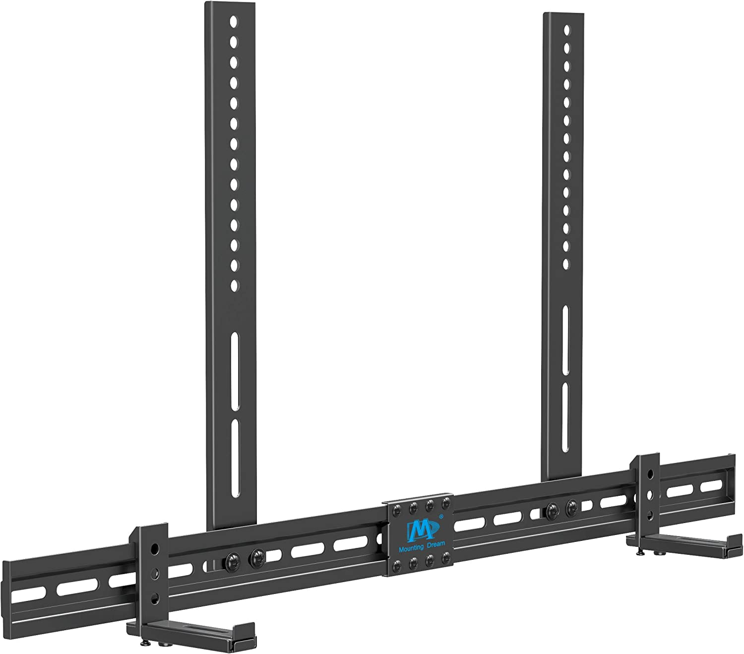 """Mounting Dream Universal Soundbar Mount for SONOS Beam, Sound Bar Bracket for Soundbar with Holes/Without Holes, Non-Slip Base Holder Extends 3.4"""" to 6.1"""", Safe and Easy to Install MD5425"""