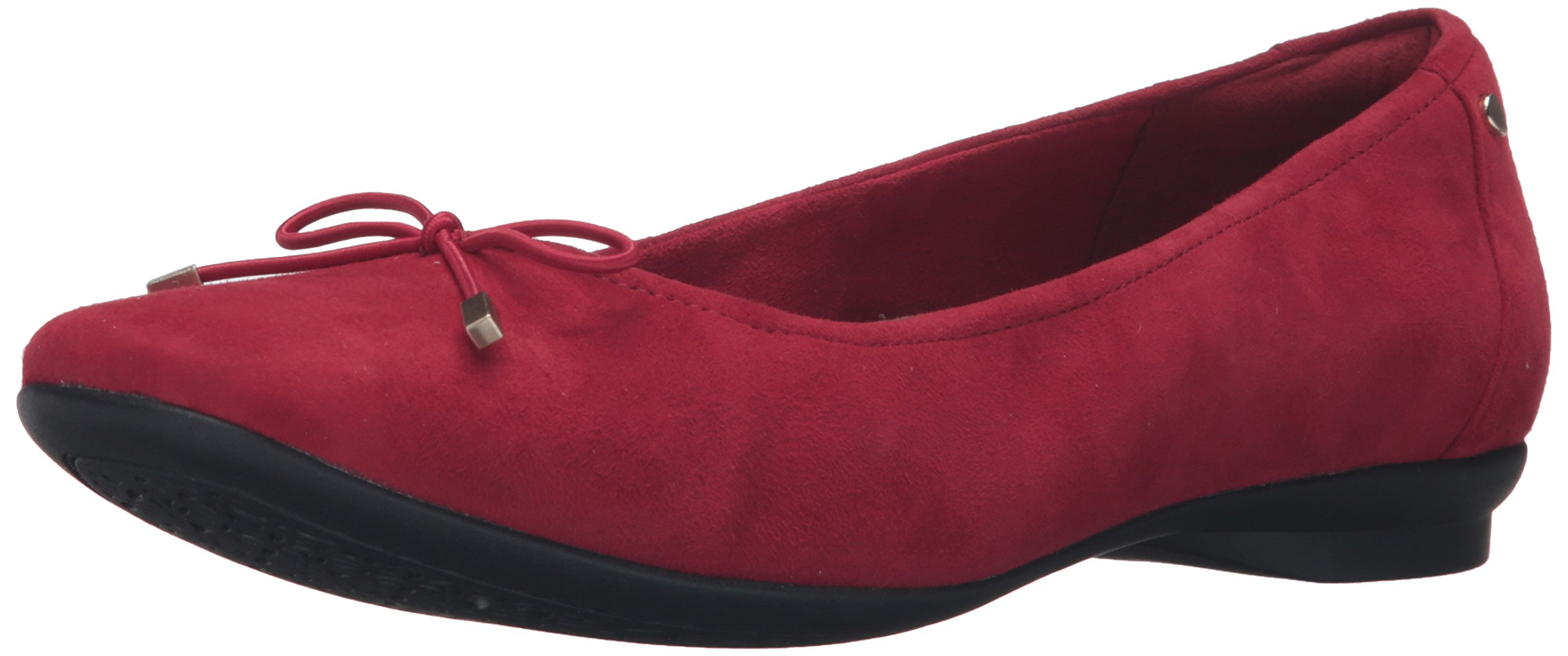 Clarks Women's Candra Light Flat, Red Suede, 10 M US