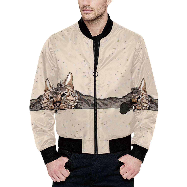 Cat Bomber Jacket for Boy XXL by Hitecera