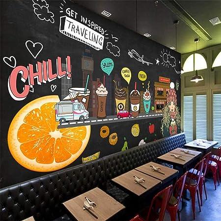 Papel Tapiz Mural Envío Juice Shop Papel Pintado 3D Pintado a Mano ...