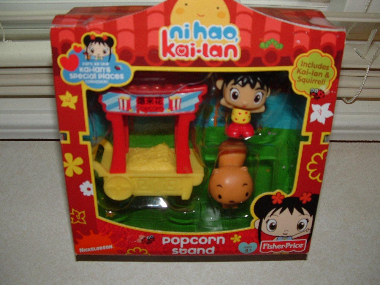 Reducción de precio Ni Hao Kai-Lan Popcorn Stand with Squirrel Figure ~ Special Places Collection Set by Ni Hao Kai-Lan
