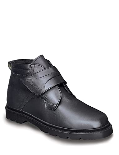 Chums Mens Real Leather Warm Lined Touch Fastening Boots