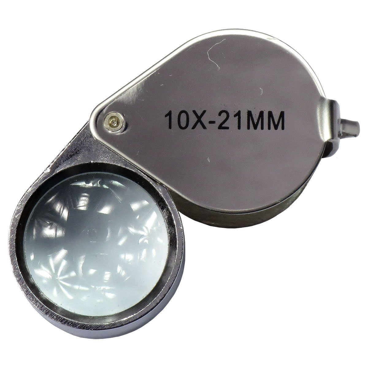 HTS 202L3 30x 21mm Stainless Steel Jewelers Singlet Loupe