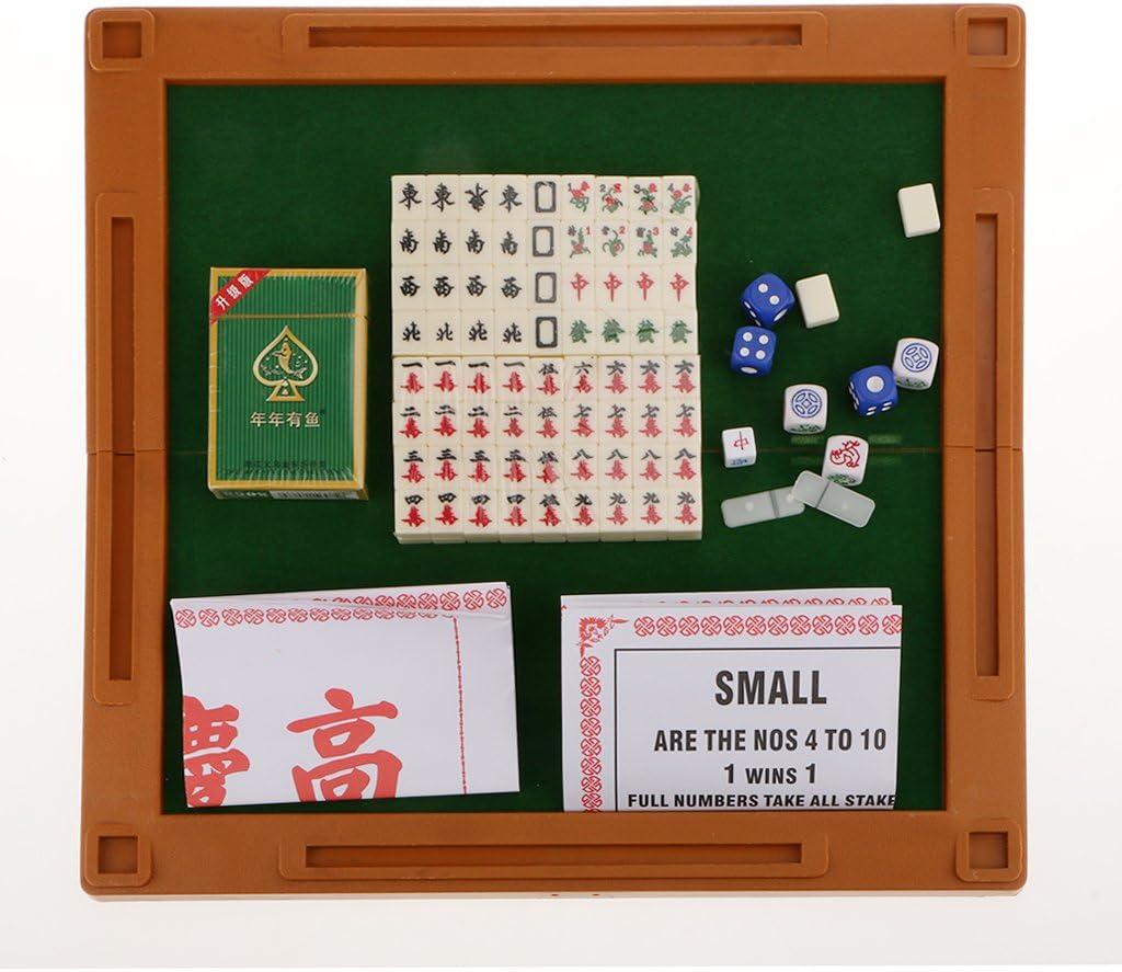 Bonarty 4 En 1 Mini Mahjong Chino Tradicional Juego De Fiesta Crema ML-011: Amazon.es: Juguetes y juegos