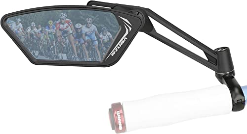 Venzo Bicycle Bike Accessories Handlebar Mount Mirrors Set Silver