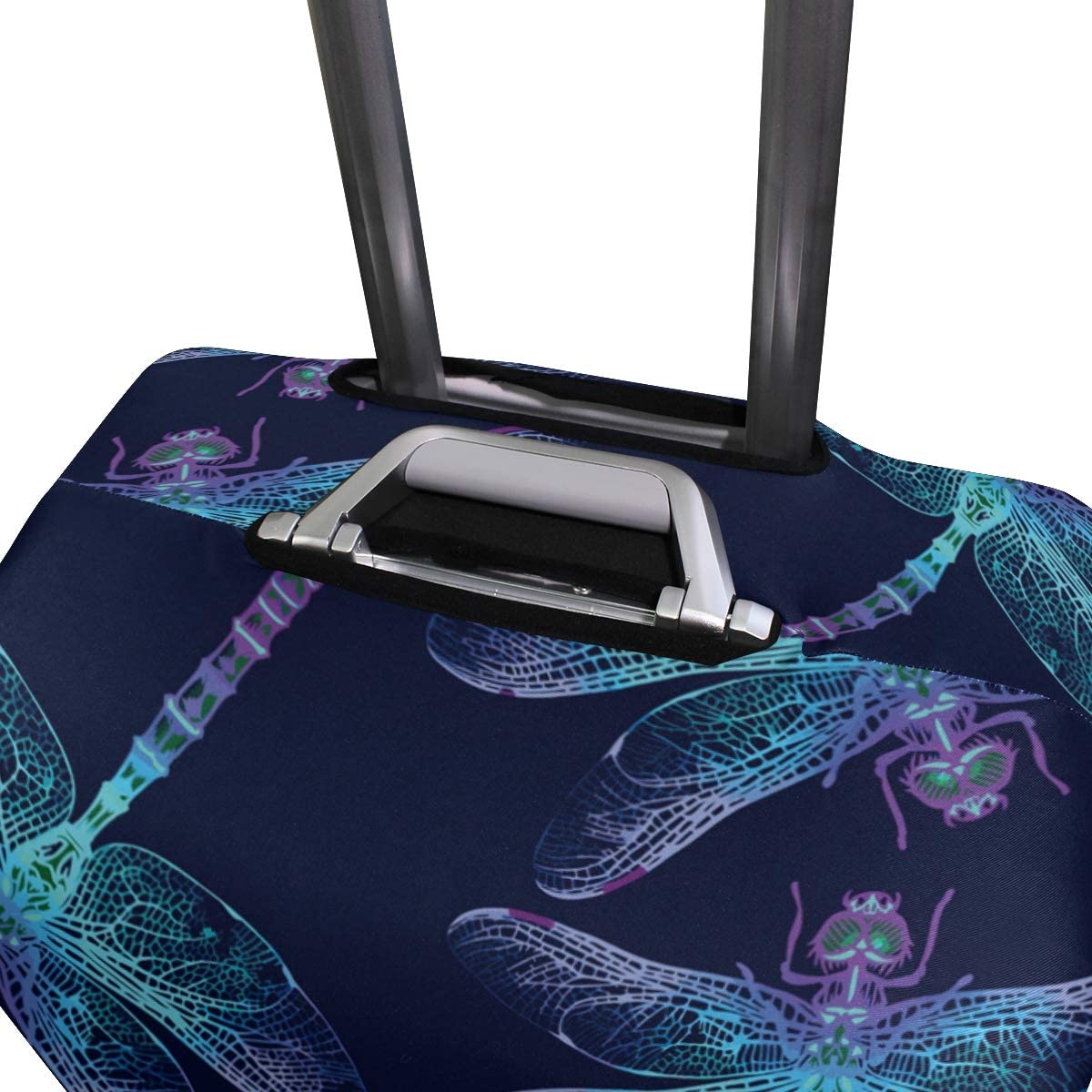 Dragonflies Pattern Travel Luggage Cover Stretchable Polyester Suitcase Protector Fits 18-20 Inches Luggage