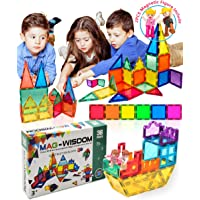 MAG-WISDOM Magnetic Tiles for Kids Magnet Castle Building Tiles 36 Pcs 3D Magnetic Blocks for Kids Children Educational…