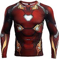 NEPIA GYM Superhero Men's Compression Shirt 3D Print T-Shirt