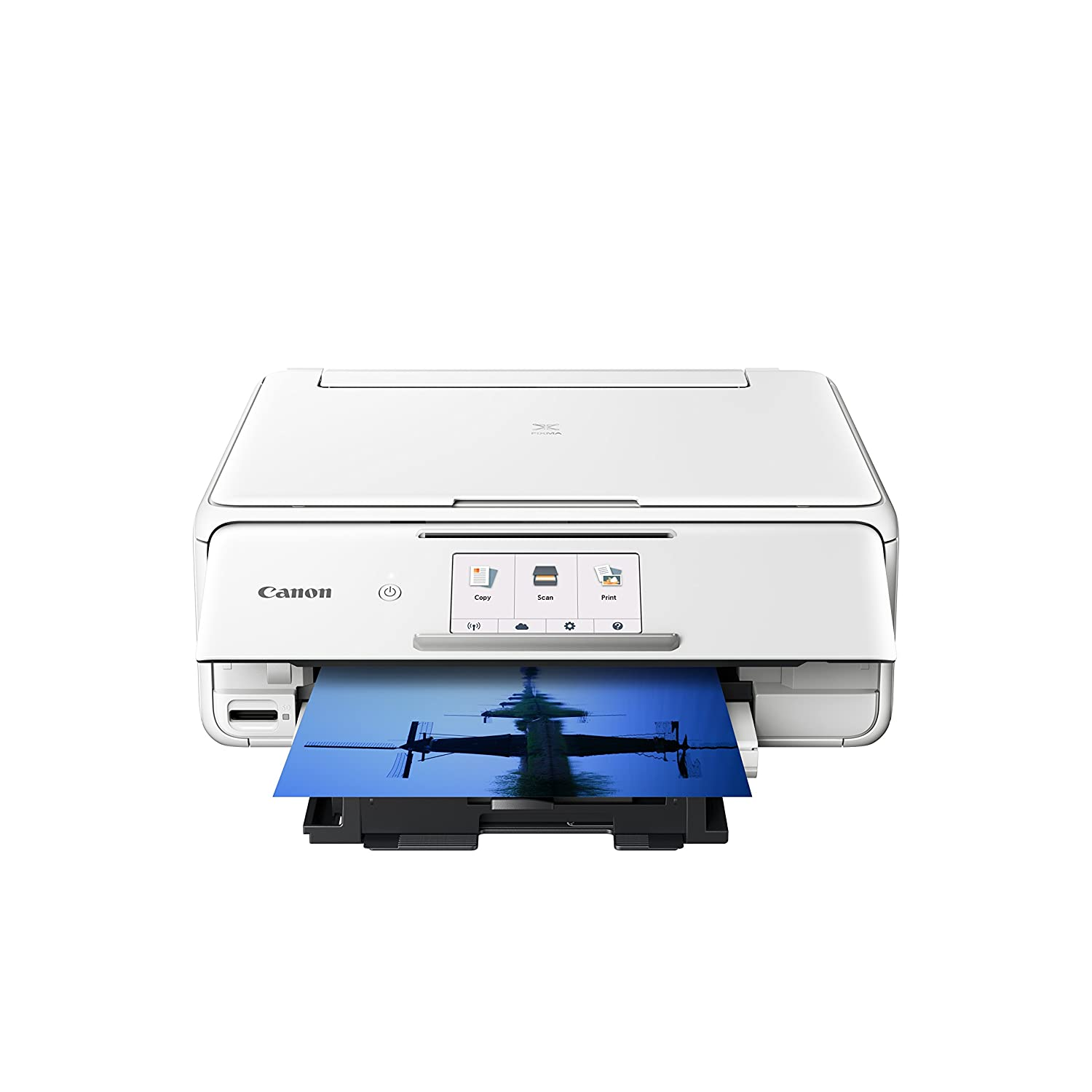 Canon PIXMA TS8120 Wireless Color Photo Printer with Scanner & Copier - White, and CLI-280XXL Black Ink bundle