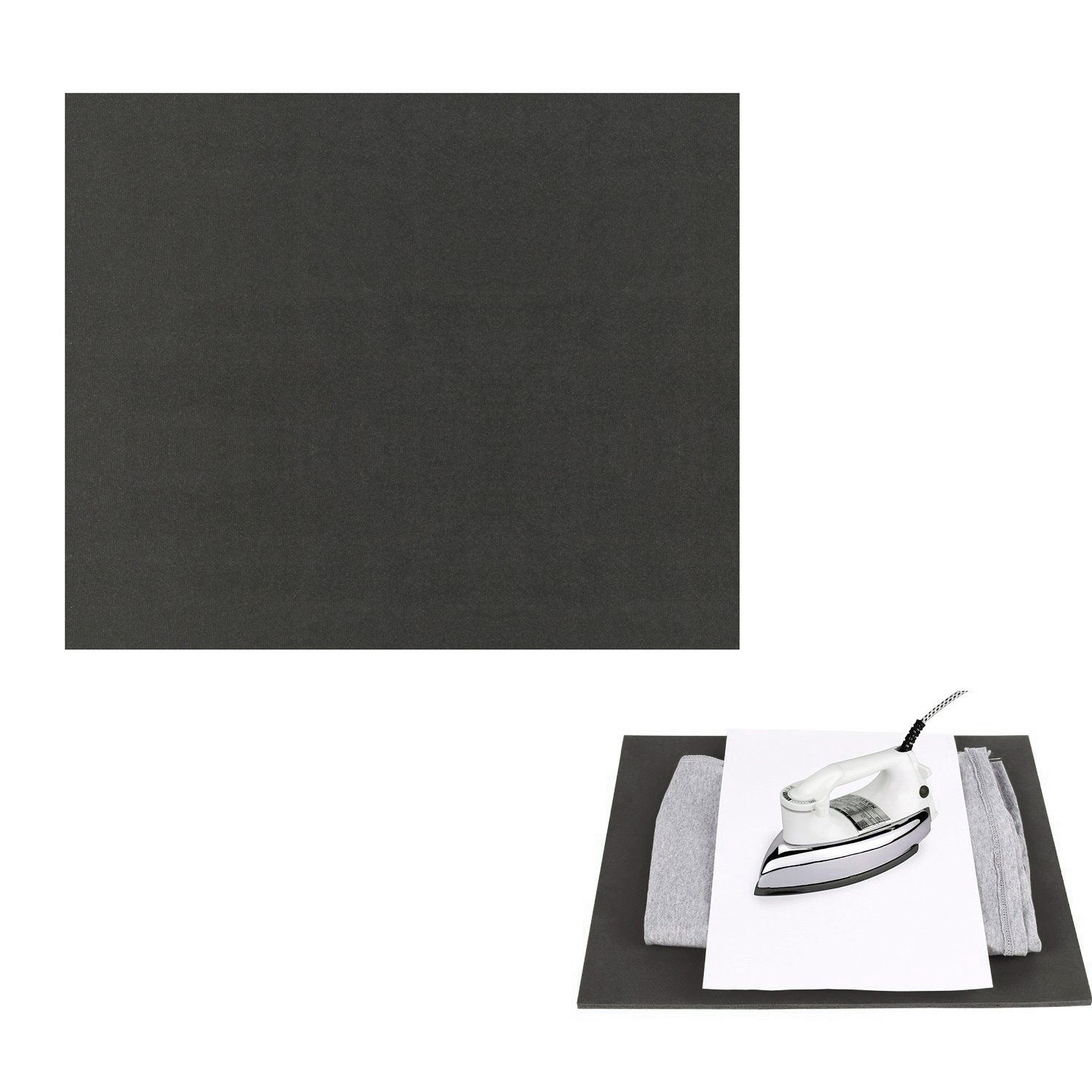 "RUSPEPA 12"" ×15"" Silicone Pad, Flat Heat Press Replacement(Black)"