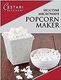 Microwave Air Popper | BPA Free Premium European Grade Clear Platinum Silicone Popcorn Maker | Replaces Microwave Popcorn Bags | Enjoy Air Popped Popcorn - No Oil Needed | by Cestari (2 Quarts)