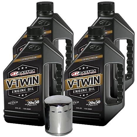 MaximaHiflofiltro vteock22 Mezcla sintético Kit Cambio Aceite Motor para Harley Davidson Twin CAM V-Twin