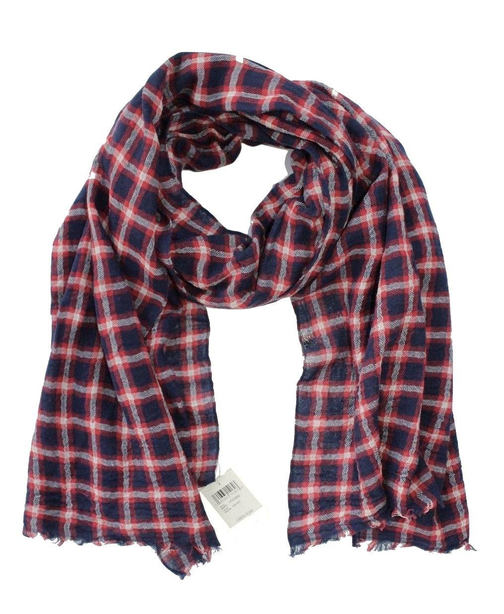 Lucky Brand - Men's - Wool/Cotton Windowpane Check Plaid Scarf