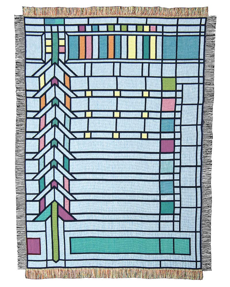 Frank Lloyd Wright Collection Throw Blanket