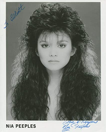 Nia Peeples Signed Sexy Younger 8x10 Photo With COA Inscribed To Elliott