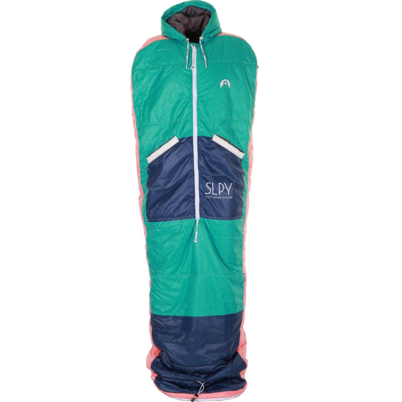 SLPY The NEW Wearable Sleeping Bag - Sleepy Medium Purple on Green by SLPY