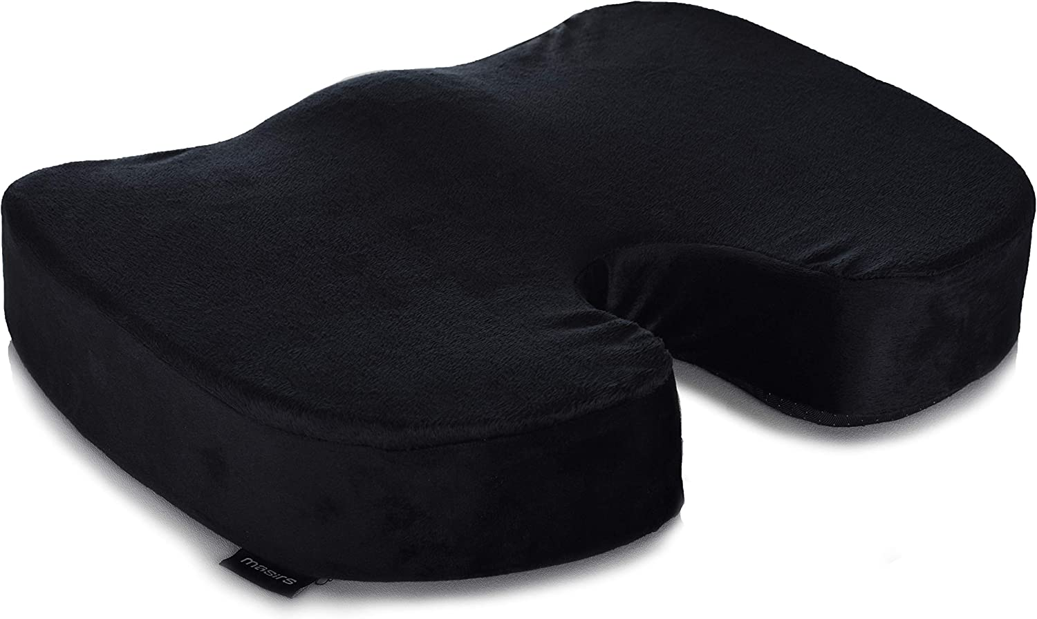 Memory Foam Seat Cushion – Comfort Orthopedic Design to Relieve Sciatica, Coccyx and Tailbone Back Pain. Conforms to Body Shape and Promotes Healthy Posture. Perfect Gel Cushion for Office Desk Chair.